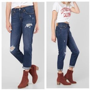 New Levi's 501 Tapered leg distressed jeans